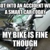 Accident with a smart car