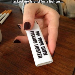 Asking for a lighter