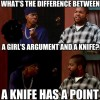 Difference between girl and knife