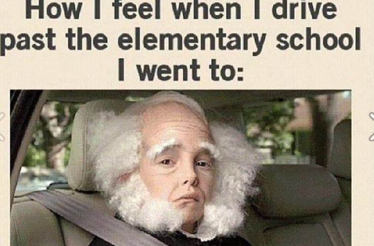 Driving past the elementary School