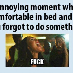 Forgetting something in bed