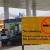 No Smoking at Gas Station