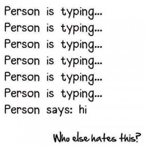 Person is Typing in chat