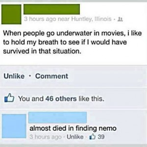 Underwater scene in movies