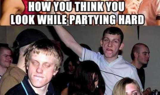 While in a party