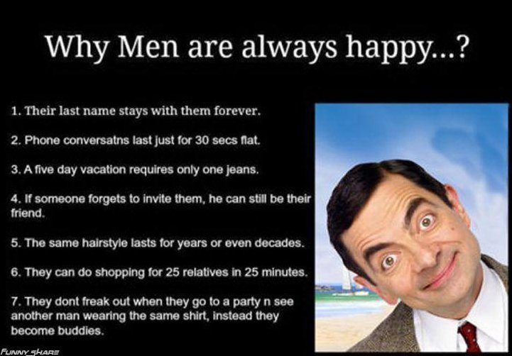 Funny Mens Wearhouse Meme : Why men are always happy funny pictures quotes