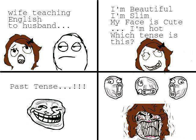 Wide teaching english to husband!