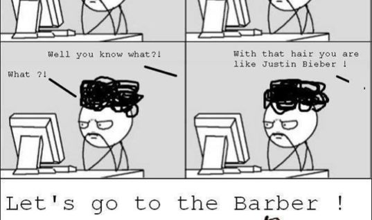 Let's go to the barber