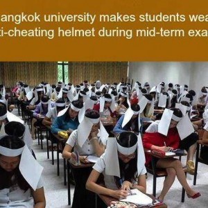 Anti-Cheating Helmet