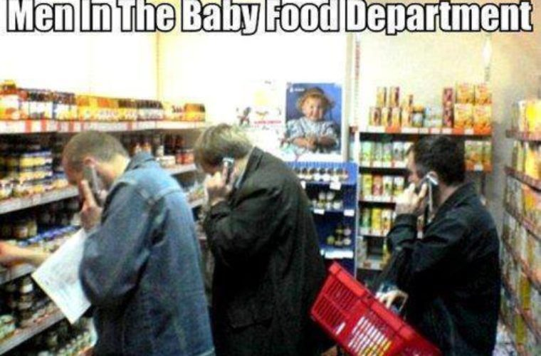 At baby food department