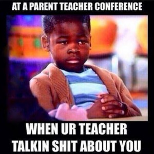 At parent teacher meeting