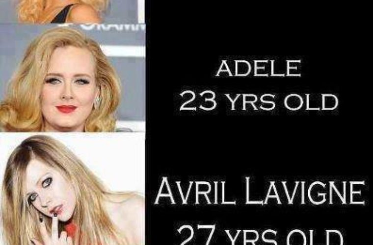 Avril Lavigne doesn't grow