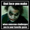 Challenging in one's game