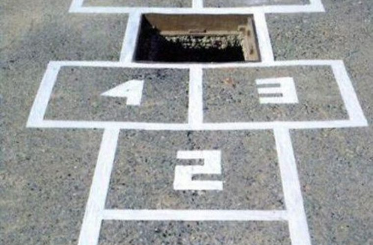 High-stakes hopscotch