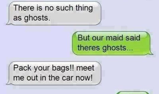 Kid talking to his dad about ghosts