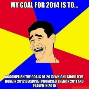 My goal for 2014 is to..