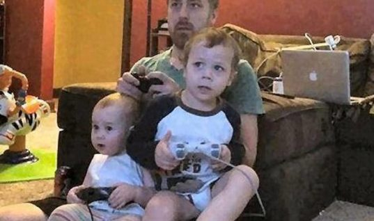 Playing video games with kids