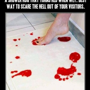 Prank to scare visitors