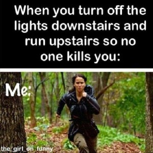 Running Upstairs at night