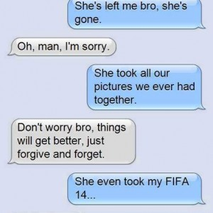 She took my FIFA game