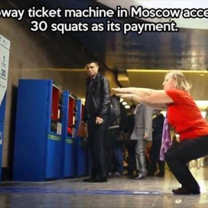 Subway ticket at Moscow