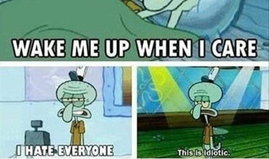 To become SQUIDWARD