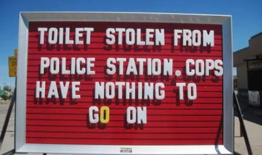 Toilet stolen from Police Station