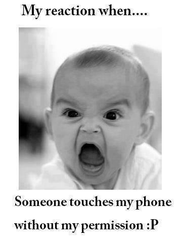Touching phone without permission