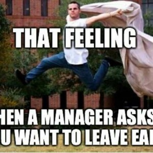 When manager leaves you