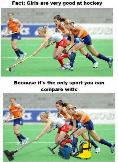 Why girls are good at hockey?