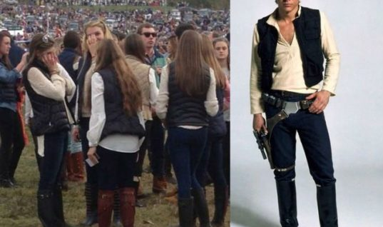 College girls dress like Han Solo these days