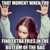 Found Extra fries in bag