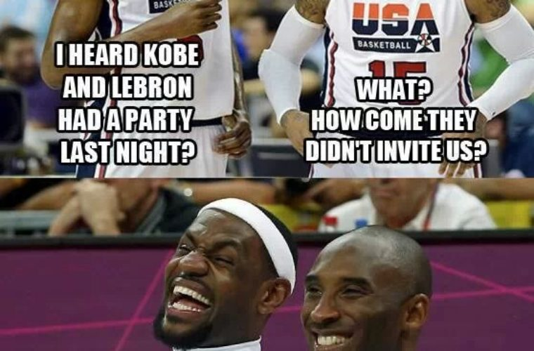 Heard Kobe n Lebron had a party