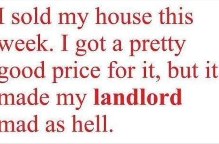 I sold my house