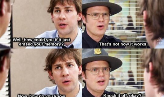 I love Dwight and Jim