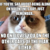 Sad about being alone on V-Day