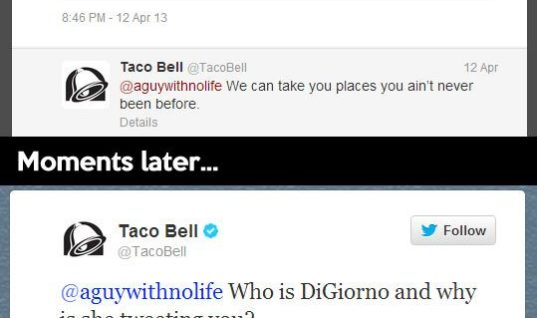 Taco Bell is social media person