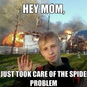 Taking care of spiders
