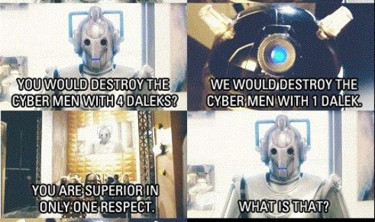 The feud between the Cybermen and Daleks