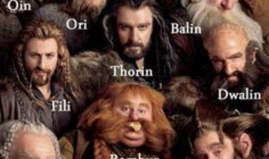 The names of the dwarves in The Hobbit