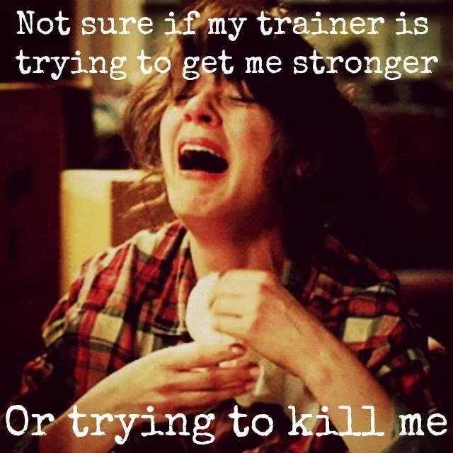 gym trainer trying to kill me funny pictures quotes memes funny