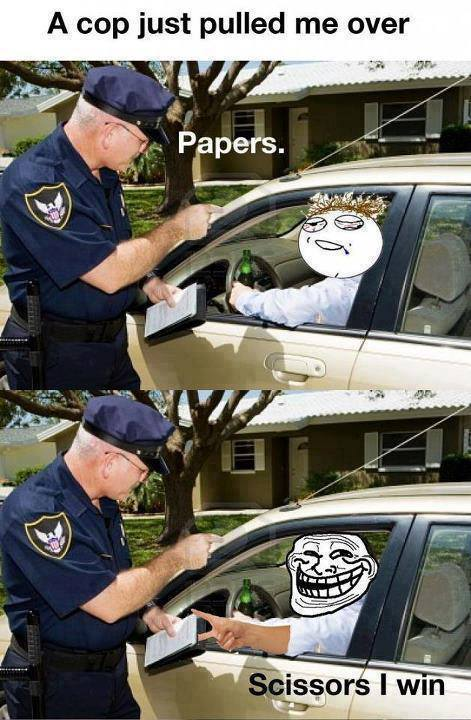 When a cop pulls me over