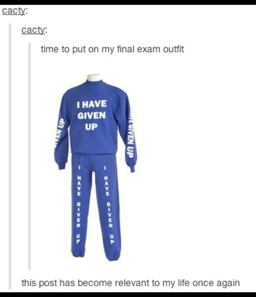 My new exam outfit