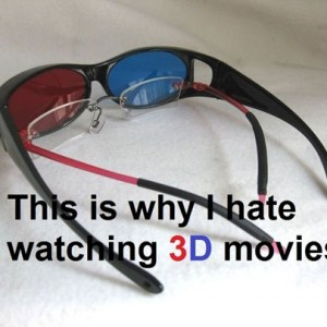 3D glasses movies