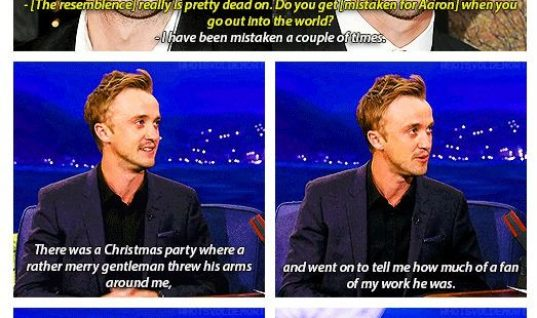 Aaron Paul and Tom Felton