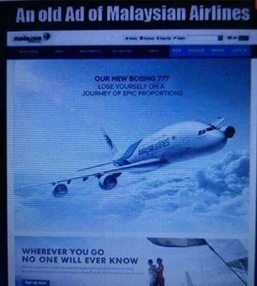 An old AD of Malaysian Airlines