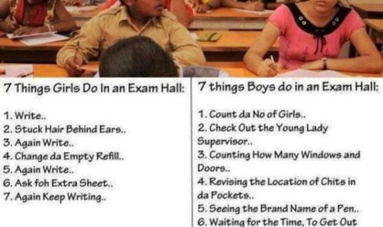 Boys and Girls in Exam Hall