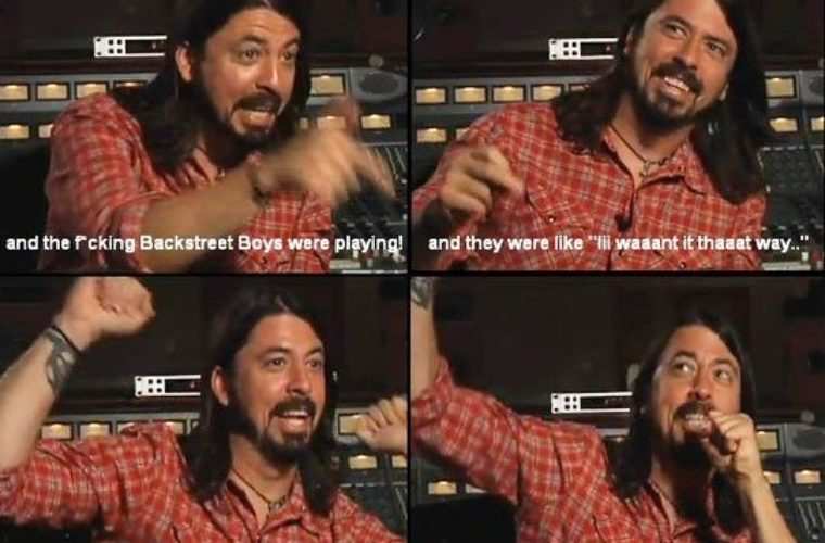 Dave Grohl and the Backstreet Boys