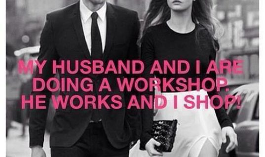 Doing workshop with husband