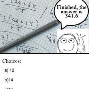 During Math Exam